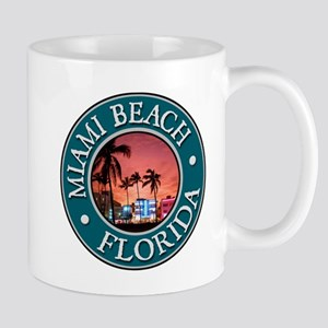 Miami Beach Large Mugs