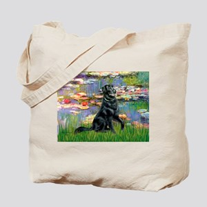 Lilies / Flat Coated Retrieve Tote Bag