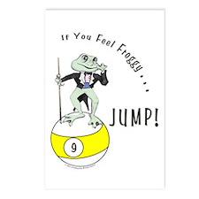 Billiards Frog 9 Postcards (Package of 8)