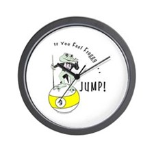 9 Ball Frog Cartoon Wall Clock