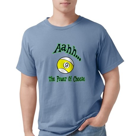 9 Ball Parody The Power of Cheese  Men's Comfort Colors T-Shirts