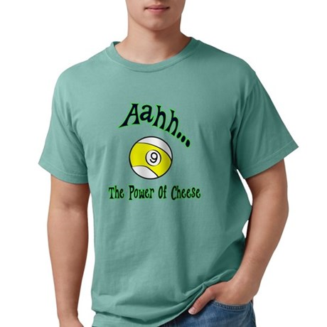 The Power of Cheese Funny 9 Ball Parody Men's Comfort Colors T-Shirts