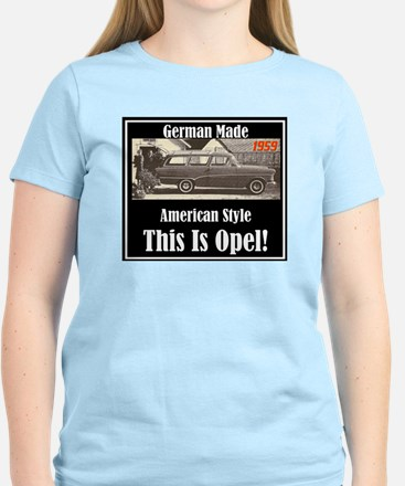 """1959 Opel Ad"" Women's Light T-Shirt"
