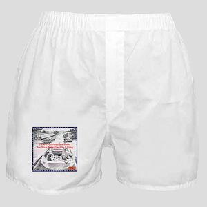"""""""1956 Futuristic Ad"""" Boxer Shorts"""