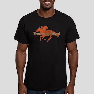 Thoroughbred Horse Men's Fitted T-Shirt (dark)