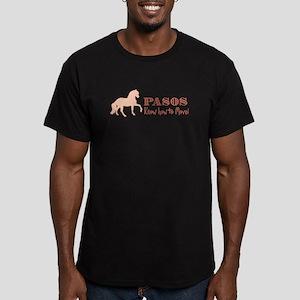 Paso Fino Horse Men's Fitted T-Shirt (dark)