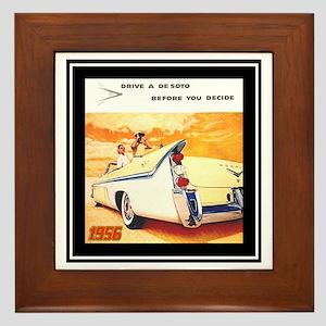 """""""1956 DeSoto Ad"""" Framed Tile"""
