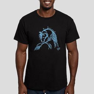 Horse Head Sketch Men's Fitted T-Shirt (dark)