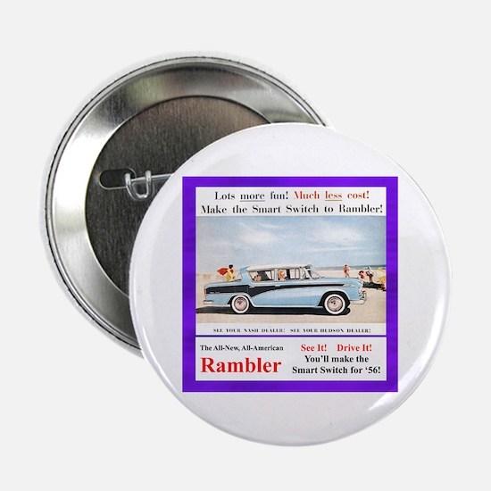 """""""1956 Rambler Ad"""" 2.25"""" Button"""