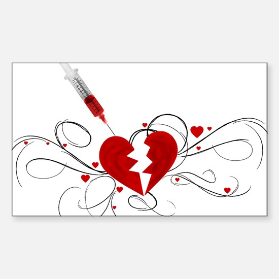 Injected Heart Rectangle Decal