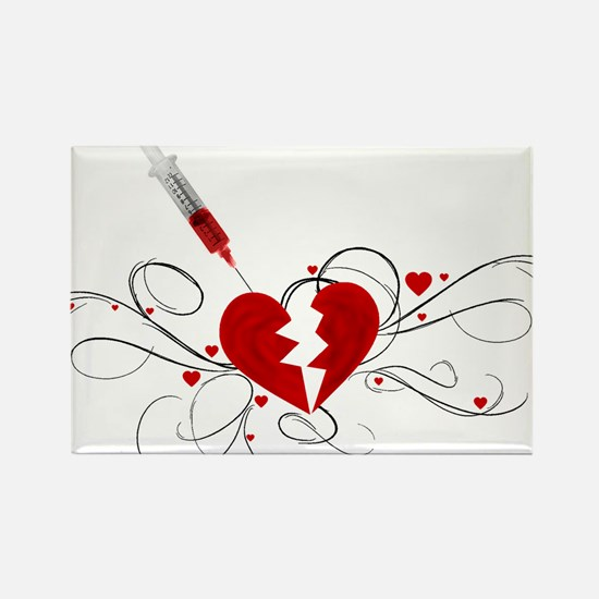Injected Heart Rectangle Magnet