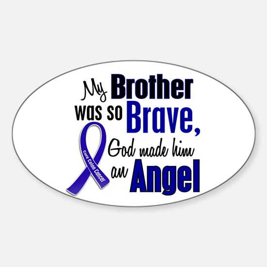 Angel 1 BROTHER Colon Cancer Oval Decal