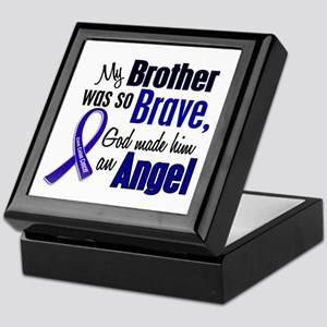 Angel 1 BROTHER Colon Cancer Keepsake Box