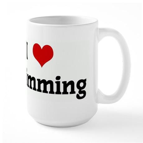 I Love Swimming Large Mug
