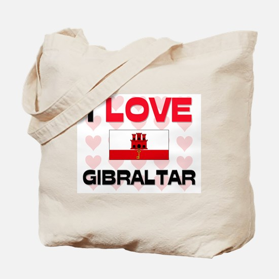 I Love Gibraltar Tote Bag