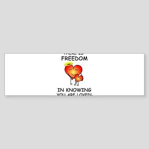 Freedom in Knowing Bumper Sticker