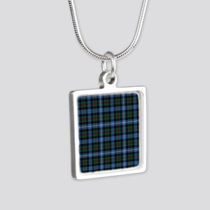 Tartan - Robertson hunting Silver Square Necklace