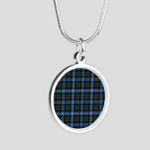Tartan - Robertson hunting Silver Round Necklace