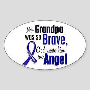 Angel 1 GRANDPA Colon Cancer Oval Sticker