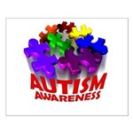 Autism Puzzle Jump Small Poster