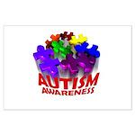 Autism Puzzle Jump Large Poster
