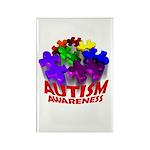 Autism Puzzle Jump Rectangle Magnet (100 pack)