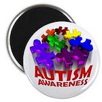 Autism Puzzle Jump Magnet