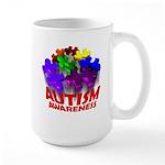Autism Puzzle Jump Large Mug