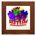 Autism Puzzle Jump Framed Tile