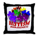 Autism Puzzle Jump Throw Pillow