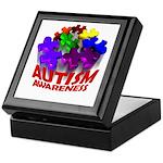 Autism Puzzle Jump Keepsake Box