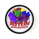 Autism Puzzle Jump Wall Clock
