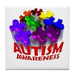 Autism Puzzle Jump Tile Coaster