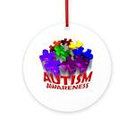 Autism Puzzle Jump Ornament (Round)
