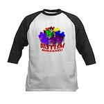 Autism Puzzle Jump Kids Baseball Jersey