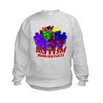 Autism Puzzle Jump Kids Sweatshirt
