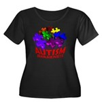 Autism Puzzle Jump Women's Plus Size Scoop Neck Da