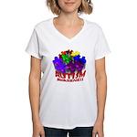 Autism Puzzle Jump Women's V-Neck T-Shirt