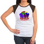 Autism Puzzle Jump Women's Cap Sleeve T-Shirt