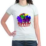 Autism Puzzle Jump Jr. Ringer T-Shirt