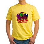Autism Puzzle Jump Yellow T-Shirt