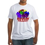 Autism Puzzle Jump Fitted T-Shirt