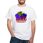 Autism Puzzle Jump White T-Shirt