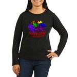 Autism Puzzle Jump Women's Long Sleeve Dark T-Shir