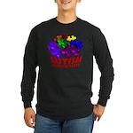 Autism Puzzle Jump Long Sleeve Dark T-Shirt