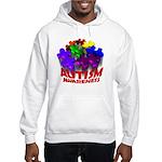 Autism Puzzle Jump Hooded Sweatshirt
