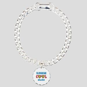 Slovakian Cool Dude Charm Bracelet, One Charm