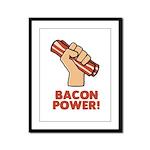 Bacon Power Framed Panel Print