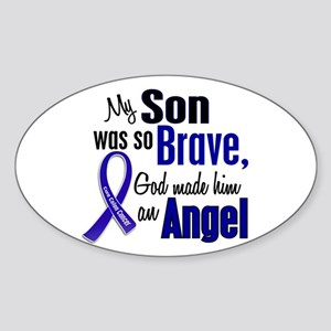 Angel 1 SON Colon Cancer Oval Sticker