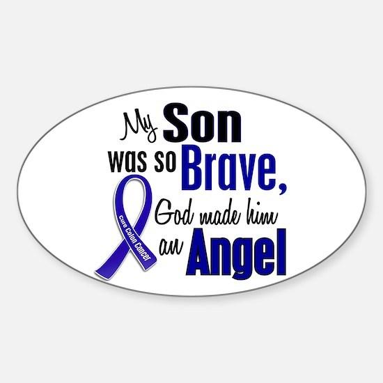 Angel 1 SON Colon Cancer Oval Decal